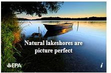 Natural lake shores