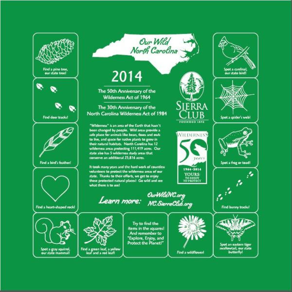 NC Sierra Club Wilderness Committee Bandanna